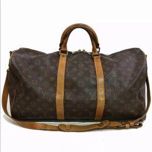 Louis Vuitton keepall bandoliere boston 55 travel
